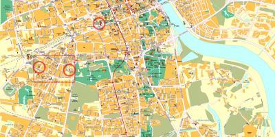 Varsava Kartica Kartica U Varsavi Masovia Poljska